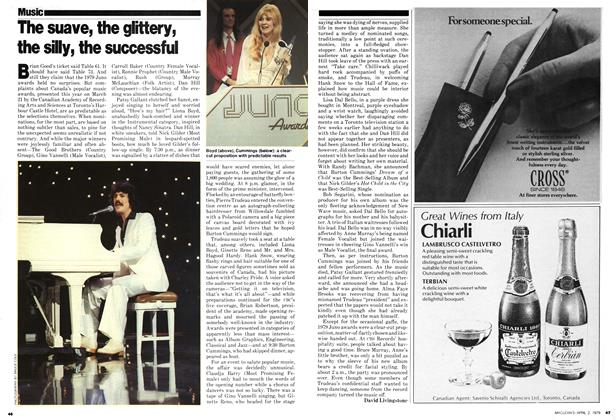 Article Preview: The suave, the glittery, the silly, the successful, April 1979 | Maclean's