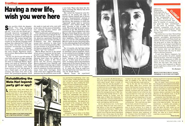 Article Preview: Having a new life, wish you were here, April 1979 | Maclean's