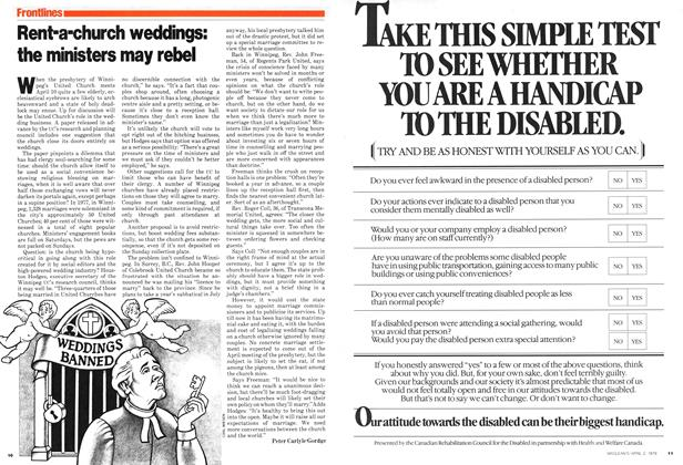 Article Preview: Rent-a-church weddings: the ministers may rebel, April 1979 | Maclean's