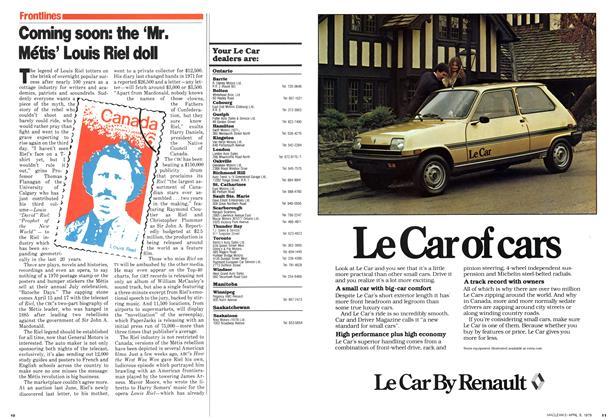 Article Preview: Coming soon: the 'Mr. Métis' Louis Riel doll, April 1979 | Maclean's