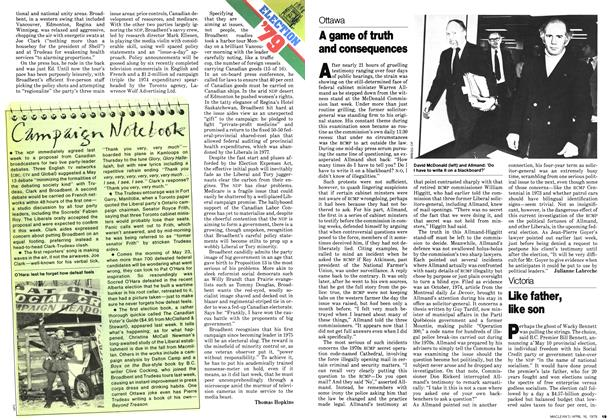 Article Preview: Campaign Notebook, April 1979 | Maclean's