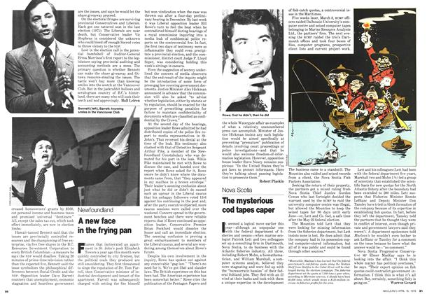 Article Preview: The mysterious cod tapes caper, April 1979 | Maclean's