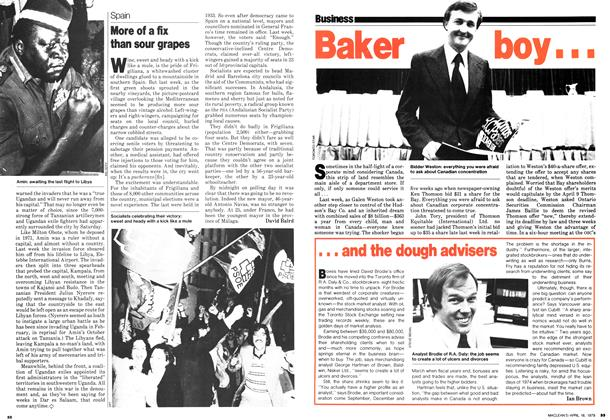 Article Preview: ... and the dough advisers, April 1979 | Maclean's