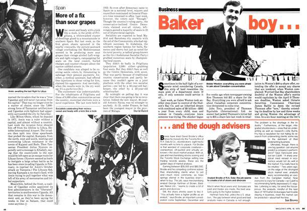 Article Preview: Baker boy..., April 1979 | Maclean's