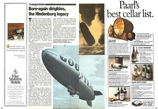 Article Preview: Born-again dirigibles, the Hindenburg legacy, April 1979 | Maclean's