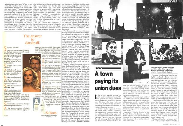 Article Preview: A town paying its union dues, April 1979 | Maclean's