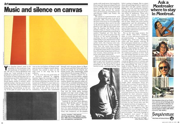 Article Preview: Music and silence on canvas, April 1979 | Maclean's