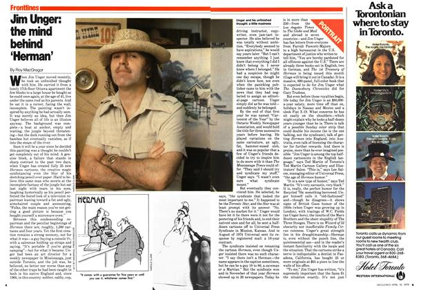 Article Preview: Jim Unger: the mind behind 'Herman', April 1979 | Maclean's