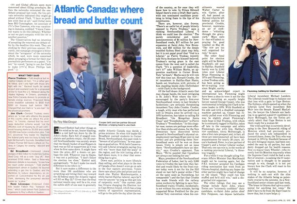 Article Preview: Atlantic Canada: where bread and butter count, April 1979 | Maclean's