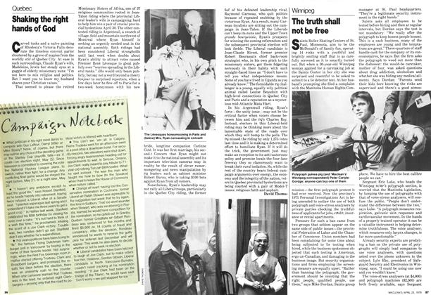 Article Preview: Shaking the right hands of God, April 1979 | Maclean's