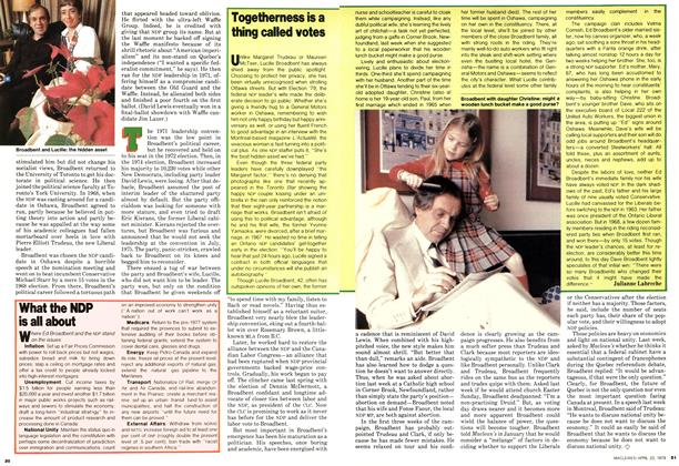 Article Preview: Togetherness is a thing called votes, April 1979 | Maclean's