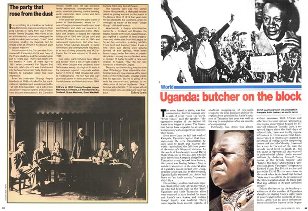 Article Preview: Uganda: butcher on the block, April 1979 | Maclean's