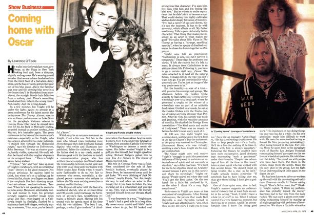 Article Preview: Coming home with Oscar, April 1979 | Maclean's