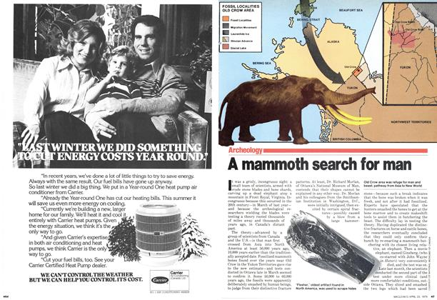 Article Preview: A mammoth search for man, April 1979 | Maclean's