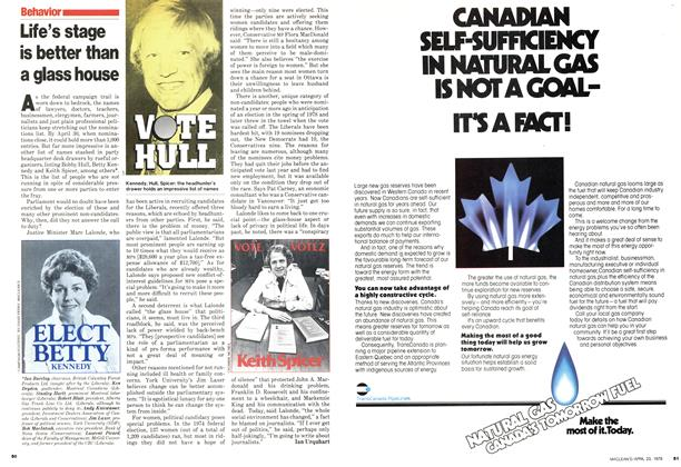 Article Preview: Life's stage is better than a glass house, April 1979   Maclean's