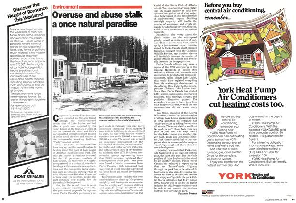 Article Preview: Overuse and abuse stalk a once natural paradise, April 1979 | Maclean's