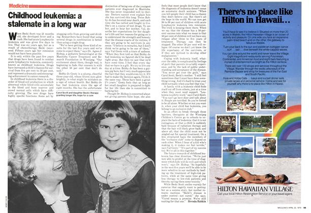 Article Preview: Childhood leukemia: a stalemate in a long war, April 1979 | Maclean's