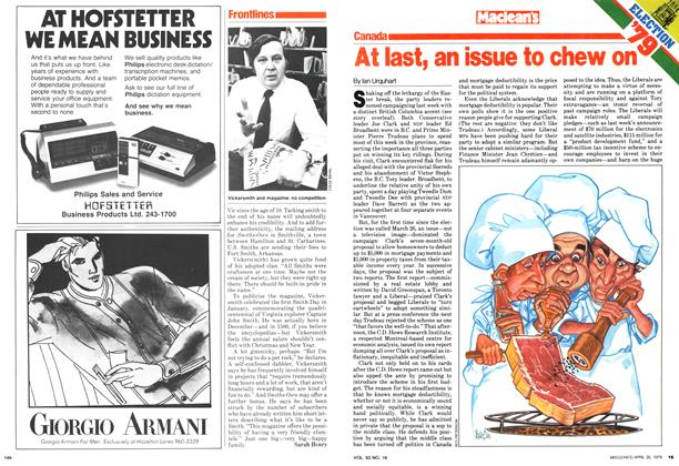 Article Preview: At last, an issue to chew on, April 1979 | Maclean's