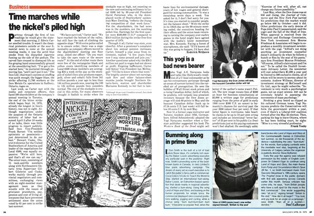 Article Preview: Time marches while the nickel's piled high, April 1979 | Maclean's