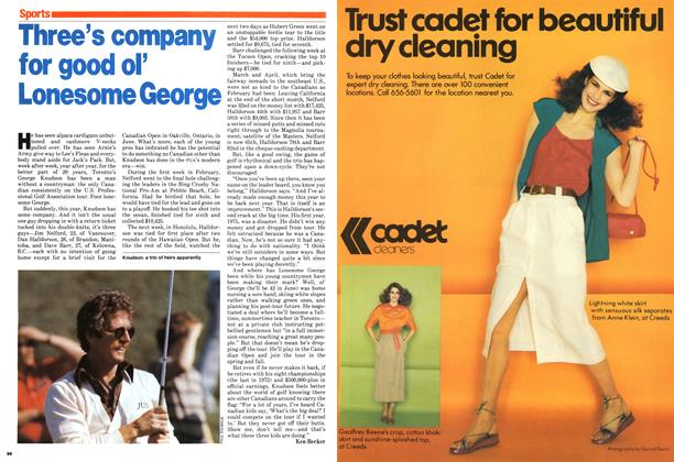 Article Preview: Three's company for good ol' Lonesome George, April 1979 | Maclean's