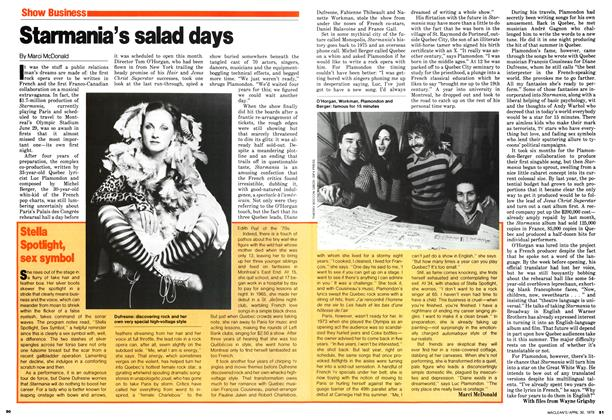 Article Preview: Stella Spotlight, sex symbol, April 1979 | Maclean's