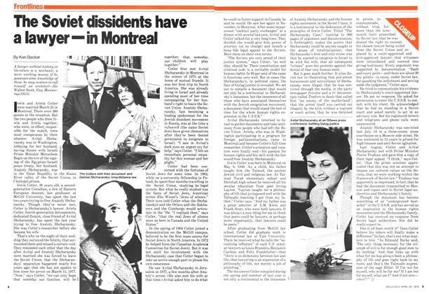 Article Preview: The Soviet dissidents have a lawyer—in Montreal, April 1979 | Maclean's