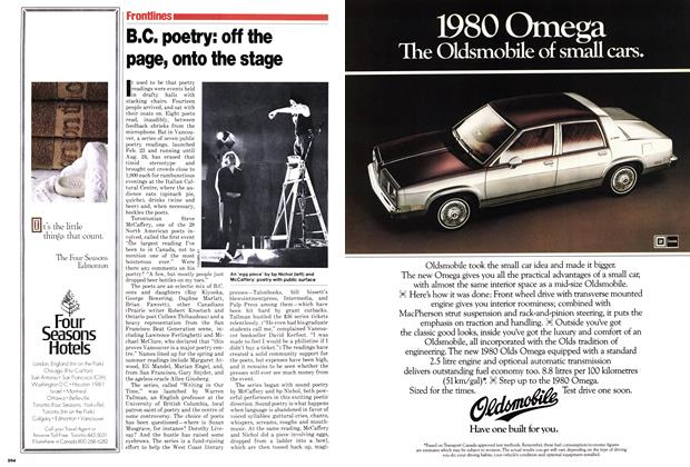 Article Preview: B.C. poetry: off the page, onto the stage, May 1979 | Maclean's