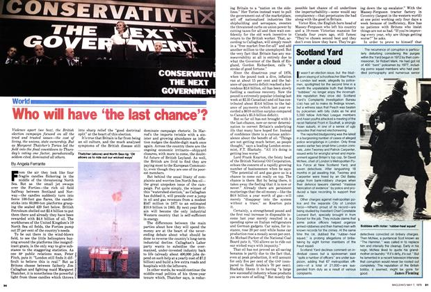 Article Preview: Who wil have 'the last chance'?, May 1979 | Maclean's