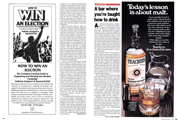 Article Preview: A bar where you're taught how to drink, May 1979 | Maclean's