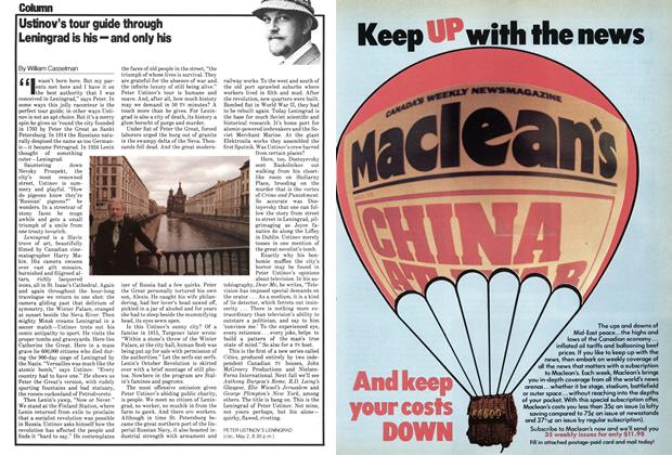 Article Preview: Ustinov's tour guide through Leningrad is his—and only his, May 1979 | Maclean's