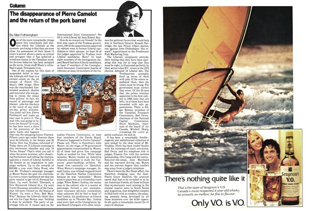 Article Preview: The disappearance of Pierre Camelot and the return of the pork barrel, May 1979 | Maclean's