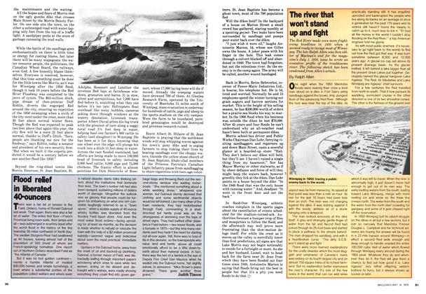 Article Preview: Flood relief in liberated 40-ouncers, May 1979 | Maclean's