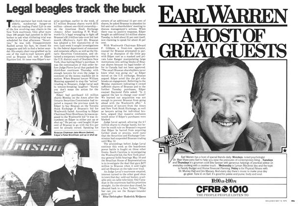 Article Preview: Legal beagles track the buck, May 1979 | Maclean's