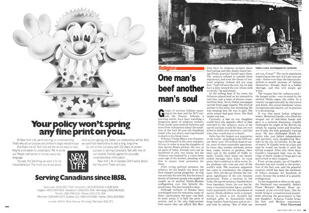 Article Preview: One man's beef another man's soul, May 1979 | Maclean's