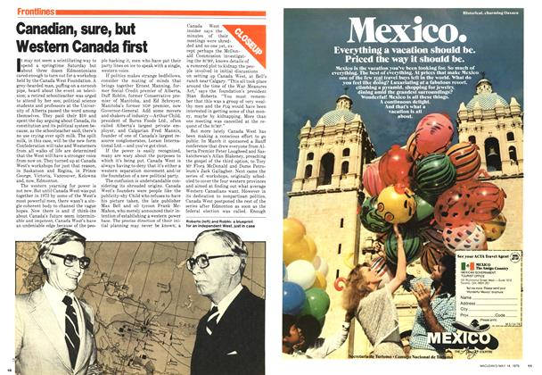 Article Preview: Canadian, sure, but Western Canada first, May 1979 | Maclean's