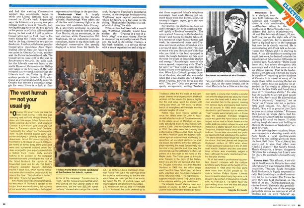 Article Preview: The vast hurrah — not your usual gig, May 1979 | Maclean's