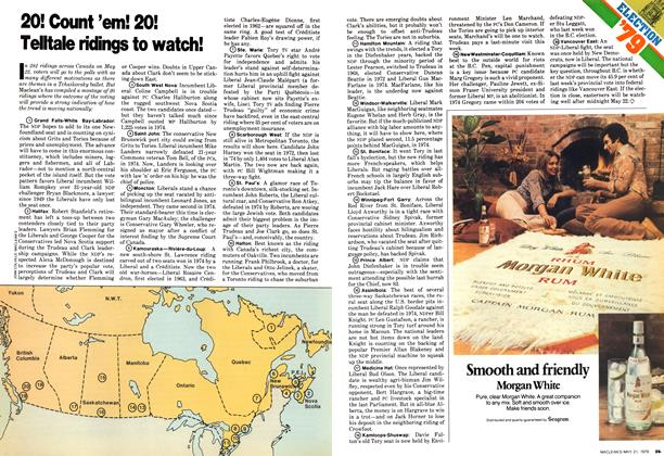 Article Preview: 20! Count 'em! 20! Teltale ridings to watch!, May 1979 | Maclean's