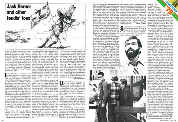 Article Preview: Jack Horner and other feudin' foes, May 1979 | Maclean's