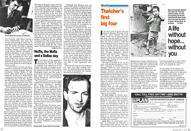 Article Preview: Thatcher's first big four, May 1979 | Maclean's