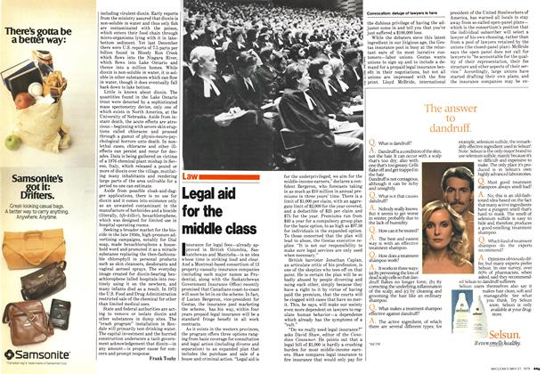 Article Preview: Legal aid for the middle class, May 1979 | Maclean's