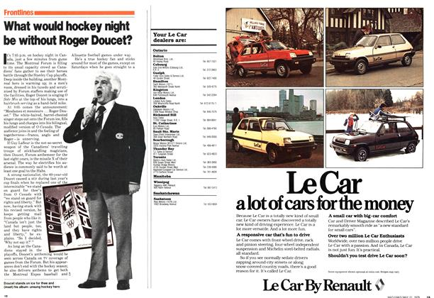Article Preview: What would hockey night be without Roger Doucet?, May 1979 | Maclean's