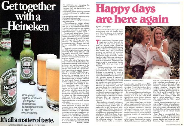 Article Preview: Happy days are here again, May 1979 | Maclean's
