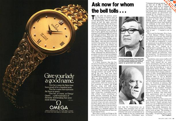 Article Preview: Ask now for whom the bell tols..., June 1979 | Maclean's