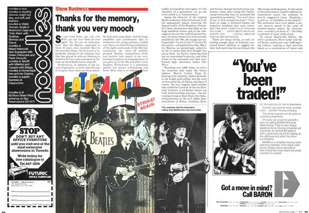 Article Preview: Thanks for the memory, thank you very mooch, June 1979 | Maclean's