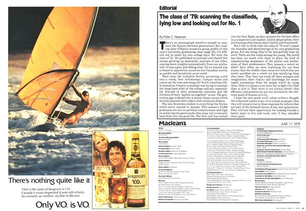 Article Preview: The class of '79: scanning the classifieds, lying low and looking out for No. 1, June 1979 | Maclean's