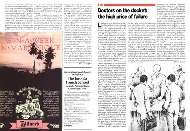 Article Preview: Doctors on the docket: the high price of failure, June 1979 | Maclean's