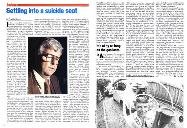 Article Preview: Settling into a suicide seat, June 1979 | Maclean's