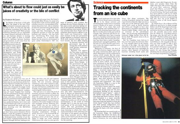 Article Preview: What's about to flow could just as easily be juices of creativity or the bile of conflict, June 1979 | Maclean's