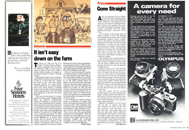 Article Preview: It isn't easy down on the farm, June 1979 | Maclean's