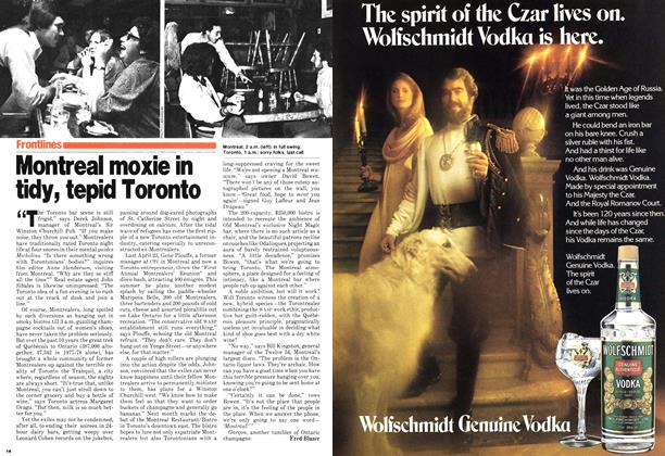 Article Preview: Montreal moxie in tidy, tepid Toronto, June 1979 | Maclean's